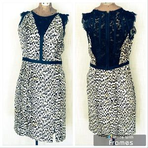 Guess Leather, Lace, Animal Print Sexy Dress 6